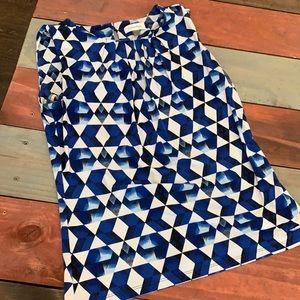 3 FOR $20 Calvin Klein Blue & White Top Size Small